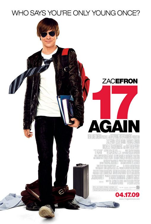 Zac Efron, 17 Again movie poster